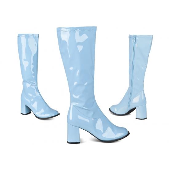 Blauwe laarzen voor vrouwen