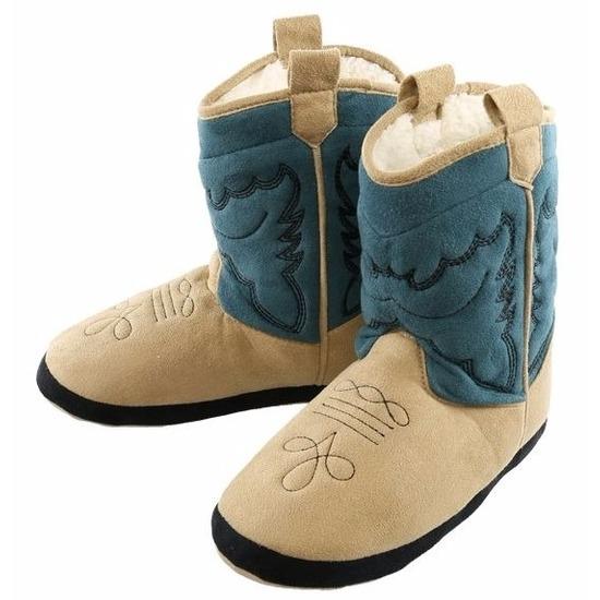 c9913d0a563 Party Cowboy pantoffels blauw voor jongetjes - Party schoenenwinkel