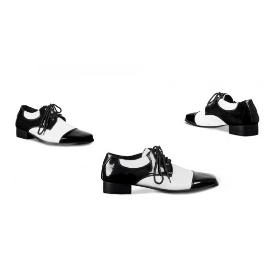Chaussures Crocodile Gangster Noir Blanc shPVyGVJ8N