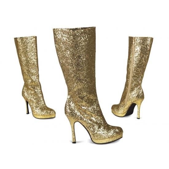 Gouden glitter laarzen