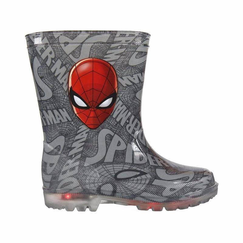 Grijze Spiderman regenlaarsjes voor jongens
