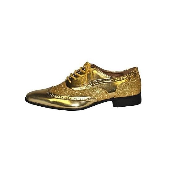 Heren disco party schoenen goud