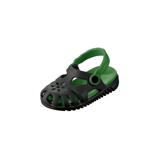 Kinder water sandalen zwart met groen