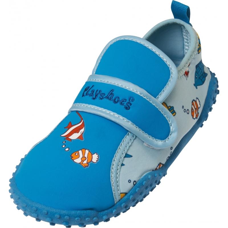 Surfschoenen blauw visjes voor kinderen